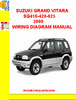 Thumbnail SUZUKI GRAND VITARA SQ 416/420/625 1998-2005 ELECTRIC WIRING