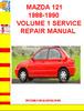 Thumbnail MAZDA 121 1988-1990 VOLUME 1 SERVICE REPAIR MANUAL