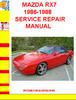 Thumbnail MAZDA RX7 1986-1988 SERVICE REPAIR MANUAL
