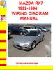 Thumbnail MAZDA RX7 1992-1994 WIRING DIAGRAM MANUAL