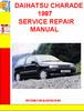 DAIHATSU CHARADE 1987 SERVICE REPAIR MANUAL