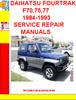 Thumbnail DAIHATSU FOURTRAK F70,75,77  1984-1993 SERVICE REPAIR MANUAL