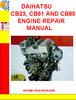 DAIHATSU CB23, CB61 AND CB80 ENGINE REPAIR MANUAL