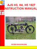 Thumbnail AJS H3, H4, H5 1927  INSTRUCTION MANUAL