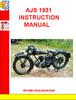 Thumbnail AJS 1931 INSTRUCTION MANUAL