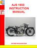 Thumbnail AJS 1933 INSTRUCTION MANUAL