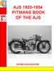 Thumbnail AJS 1933-1934 PITMANS BOOK OF THE AJS