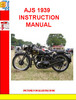 Thumbnail AJS 1939 INSTRUCTION MANUAL