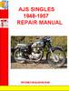 Thumbnail AJS SINGLES 1948-1957  REPAIR MANUAL