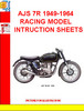 Thumbnail AJS 7R 1949-1964 RACING MODEL INTRUCTION SHEETS
