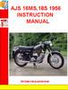 Thumbnail AJS 16MS,18S 1956 INSTRUCTION MANUAL