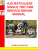Thumbnail AJS MATCHLESS SINGLE 1957-1966 SERVICE REPAIR MANUAL