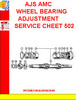 Thumbnail AJS AMC WHEEL BEARING ADJUSTMENT SERVICE SHEET 502
