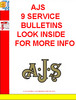 Thumbnail AJS 9 SERVICE BULLETINS LOOK INSIDE FOR MORE INFO