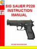 Thumbnail SIG SAUER P228 INSTRUCTION MANUAL