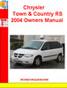 Thumbnail Chrysler Town & Country RS 2004 Owners Manual