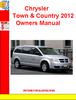 Thumbnail Chrysler Town & Country 2012 Owners Manual