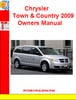 Thumbnail Chrysler Town & Country 2009 Owners Manual