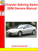 Thumbnail Chrysler Sebring Sedan 2008 Owners Manual