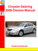Thumbnail Chrysler Sebring 2009 Owners Manual