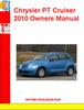 Thumbnail Chrysler PT Cruiser 2010 Owners Manual
