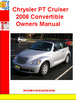 Thumbnail Chrysler PT Cruiser 2006 Convertible Owners Manual