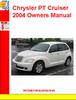 Thumbnail Chrysler PT Cruiser 2004 Owners Manual