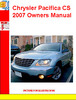Thumbnail Chrysler Pacifica CS 2007 Owners Manual