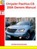Thumbnail Chrysler Pacifica CS 2004 Owners Manual