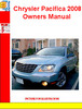 Thumbnail Chrysler Pacifica 2008 Owners Manual