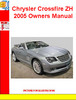 Thumbnail Chrysler Crossfire ZH 2005 Owners Manual