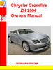 Thumbnail Chrysler Crossfire ZH 2004 Owners Manual