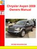 Thumbnail Chrysler Aspen 2009 Owners Manual