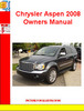 Thumbnail Chrysler Aspen 2008 Owners Manual