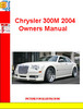 Thumbnail Chrysler 300M 2004 Owners Manual