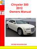 Thumbnail Chrysler 300 2012 Owners Manual