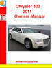 Thumbnail Chrysler 300 2011 Owners Manual