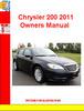 Thumbnail Chrysler 200 2011 Owners Manual