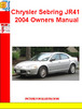 Thumbnail Chrysler Sebring JR41 2004 Owners Manual