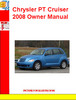 Thumbnail Chrysler PT Cruiser 2008 Owner Manual