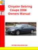 Thumbnail Chrysler Sebring Coupe 2004 Owners Manual
