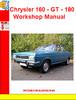 Thumbnail Chrysler 160 - GT - 180 Workshop Manual