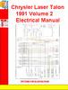 Thumbnail Chrysler Laser Talon 1991 Volume 2 Electrical Manual