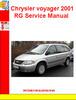 Thumbnail Chrysler voyager 2001 RG Service Manual
