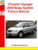 Thumbnail Chrysler Voyager 2003 Body System Failure Manual