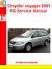 Thumbnail Chrysler Voyager 2001 RGEE Body System Failure Manual