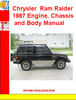 Thumbnail Chrysler Voyager 2001 RGEE Body System Failure Manual