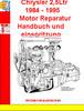 Thumbnail Chrysler 2,5Ltr 1984 - 1995 Motor Reparatur Handbuch und ein