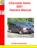 Thumbnail Chevrolet Astro 2001 Owners Manual