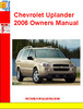 Thumbnail Chevrolet Uplander 2006 Owners Manual